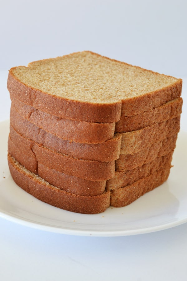 slices of bread on a plate