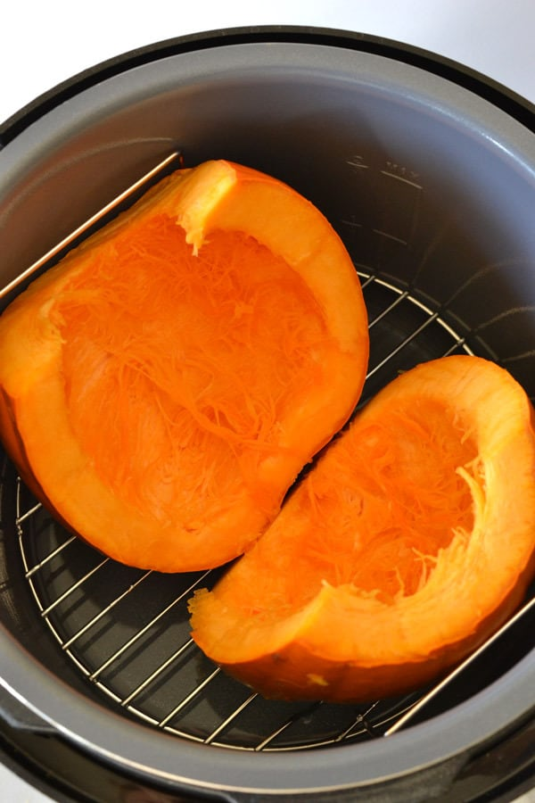 pumpkin in a pressure cooker