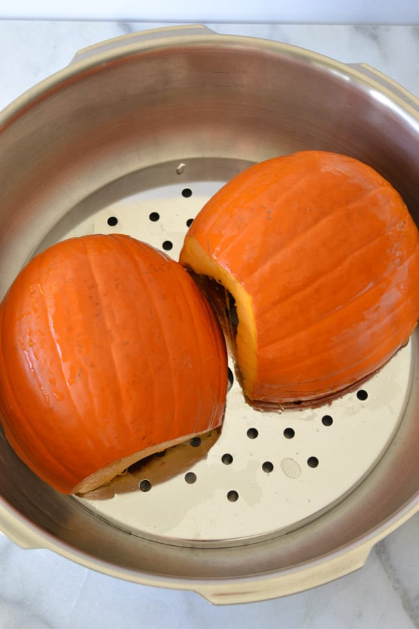 pumpkin in pressure cooker