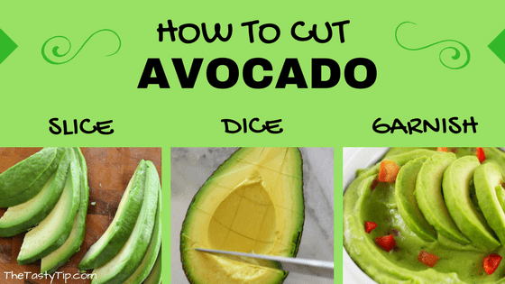 sliced avocado, diced avocado and avocado slices on top of guacamole