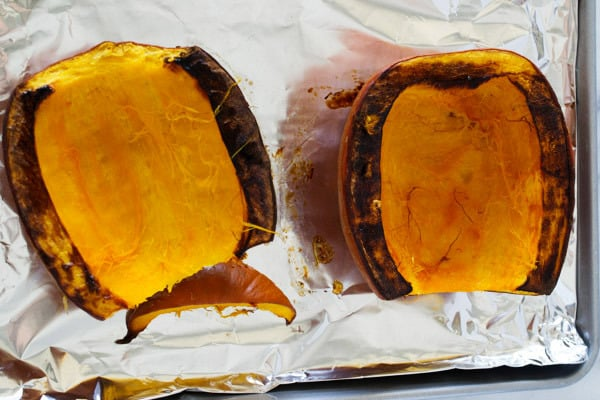 roasted pumpkin halves