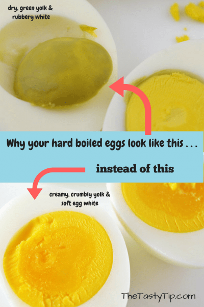 overdone and just right hard boiled eggs