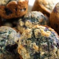 Blueberry Muffins with Sour Cream