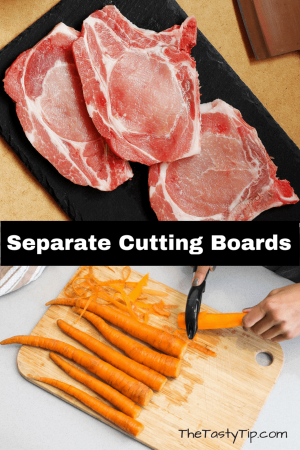 separate cutting boards for food safety