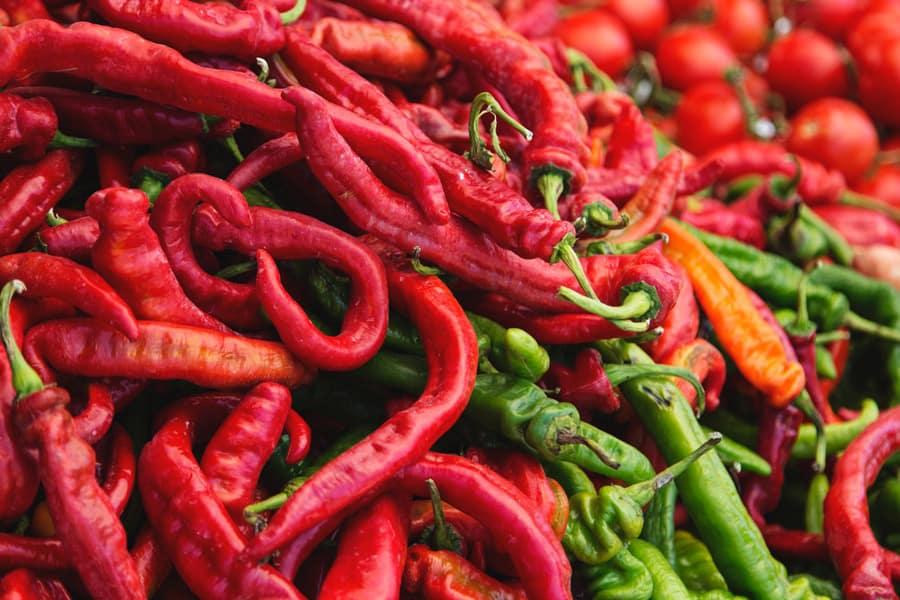 chili pepper pile
