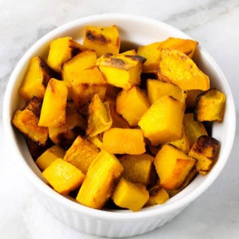 cubed roasted pumpkin