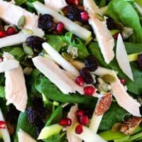 Turkey Salad with Tart Apple and Blue Cheese