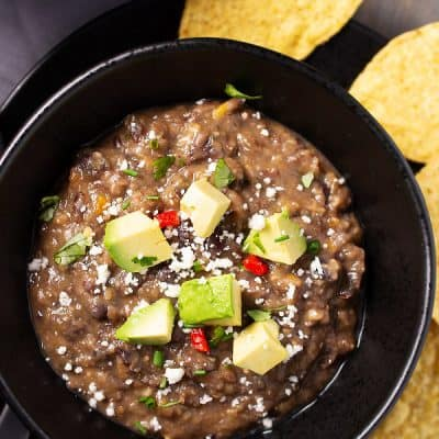 Favorite Vegan Black Bean Soup Crammed with Flavor