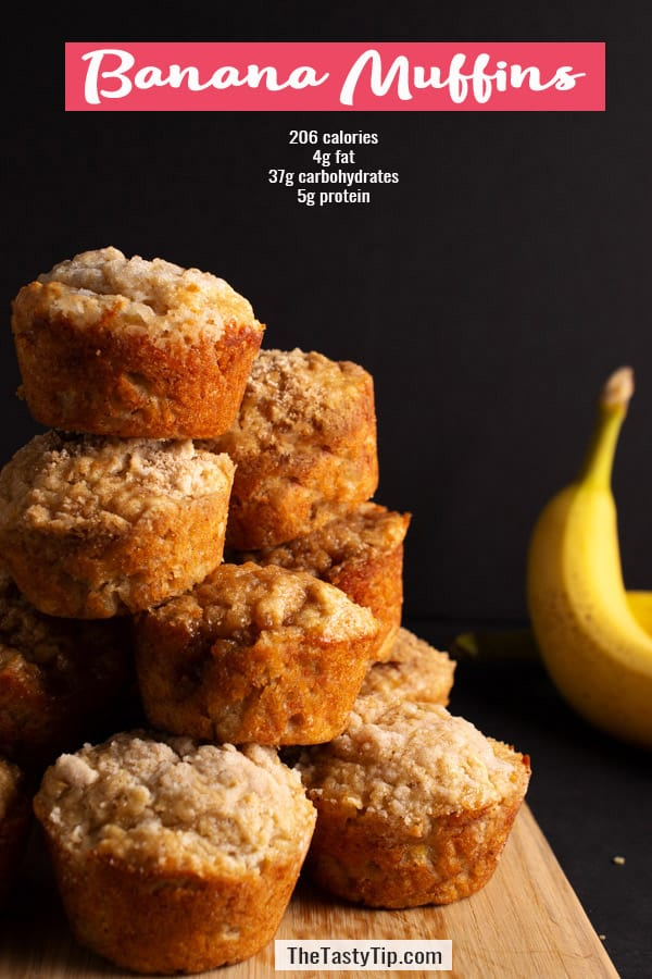 nutrition info for banana muffins