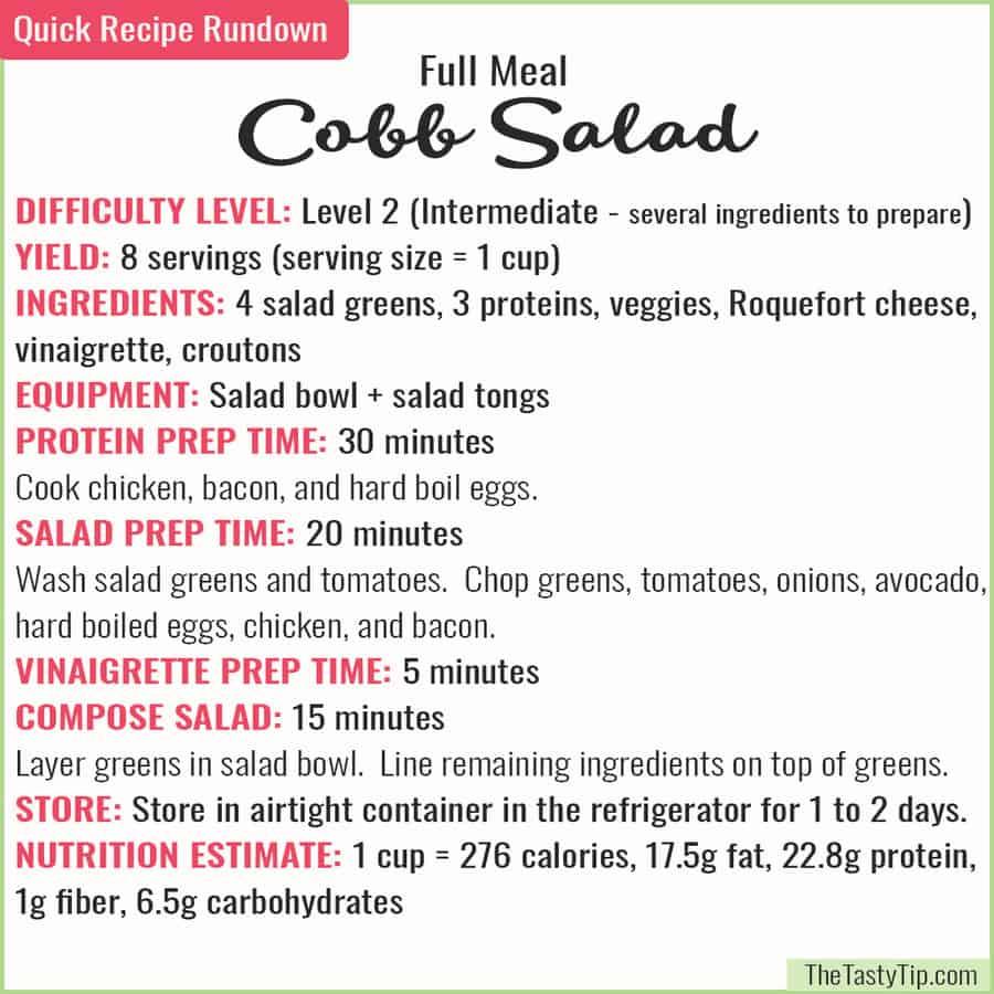 cobb salad recipe rundown