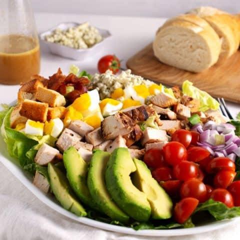 platter of cobb salad