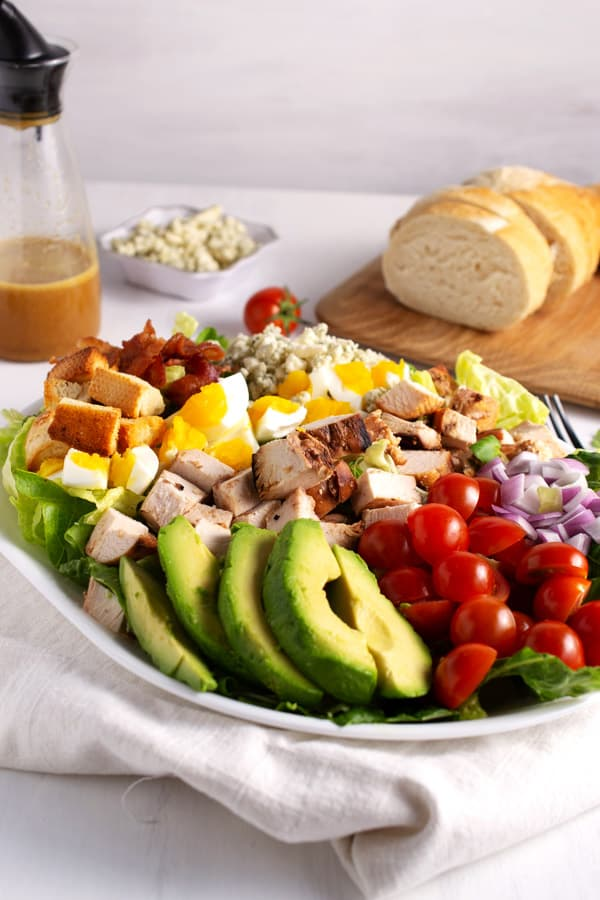 platter of cobb salad