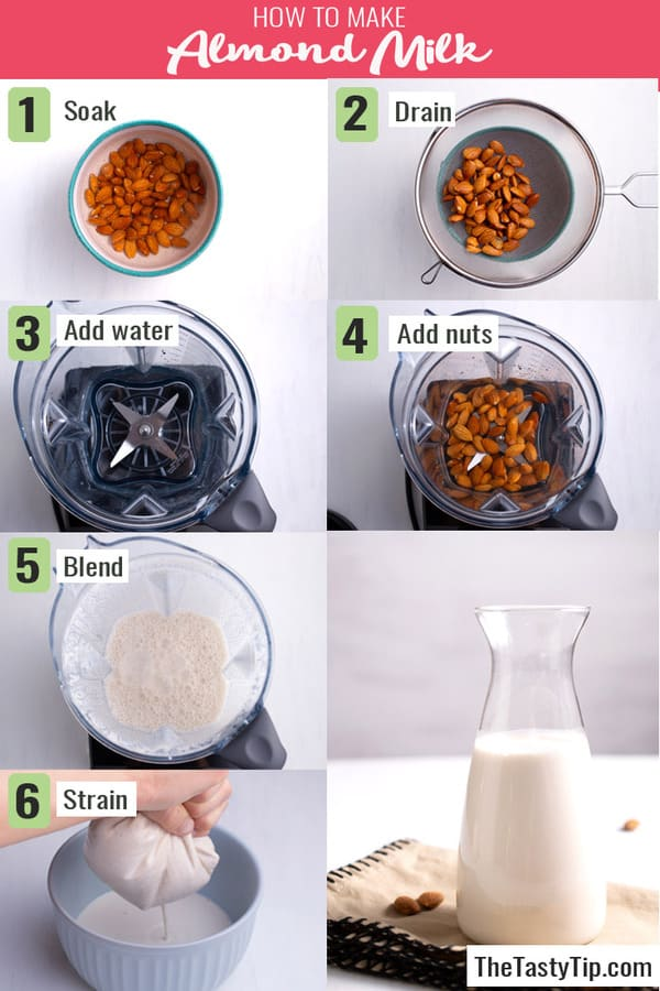 steps to make almond milk