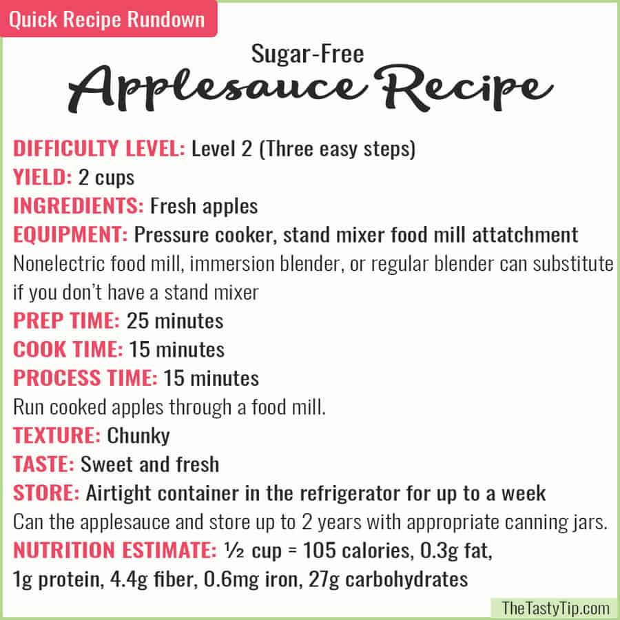 applesauce recipe rundown