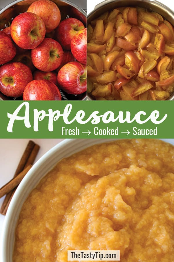3 steps to make applesauce
