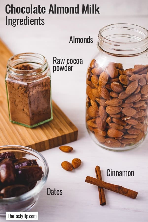 ingredients in chocolate almond milk