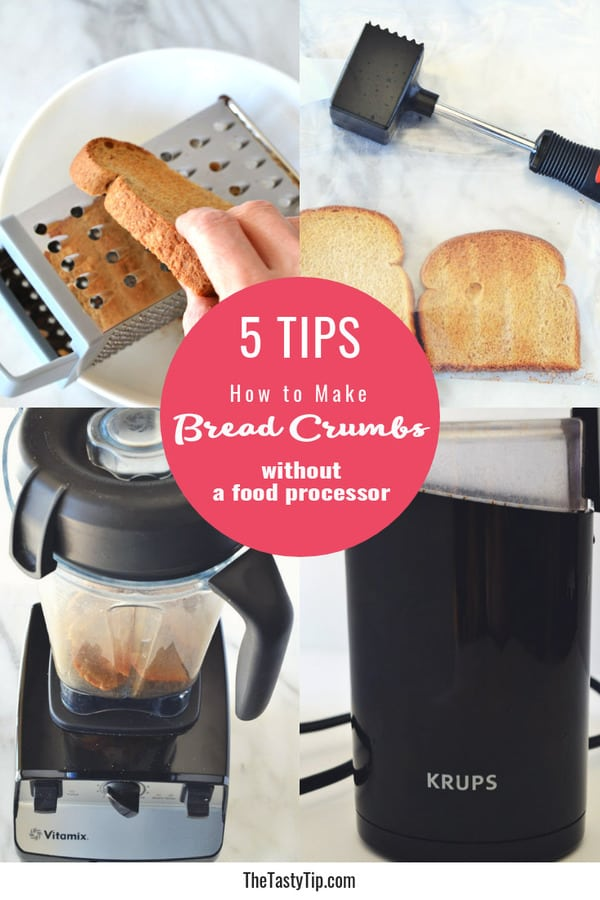 5 tips to make bread crumbs without a food processor title