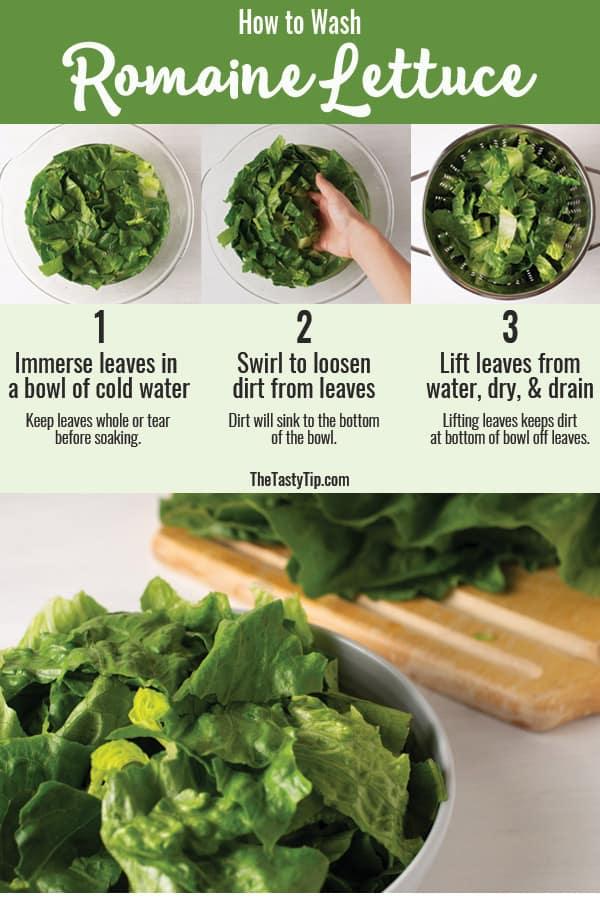steps to wash lettuce