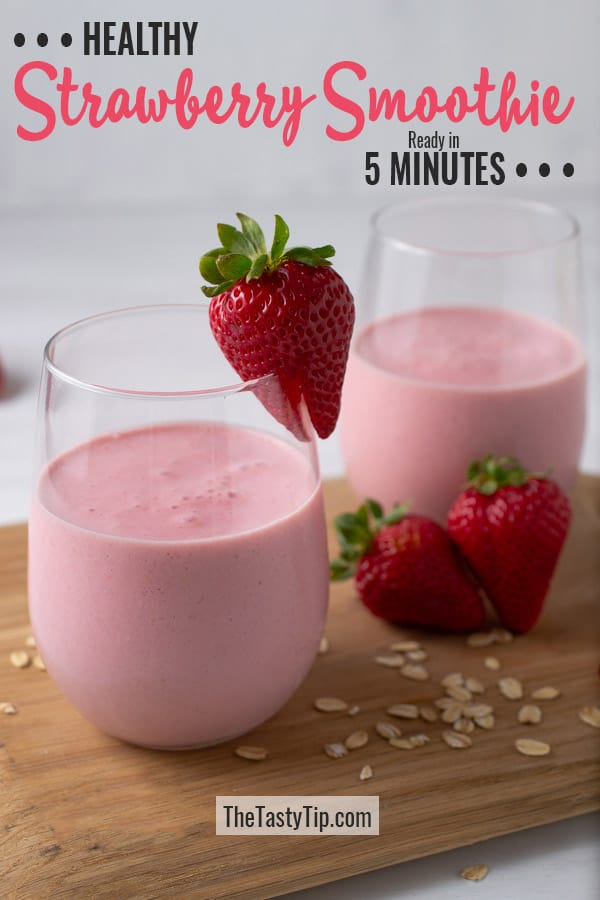 2 glasses of strawberry smoothie