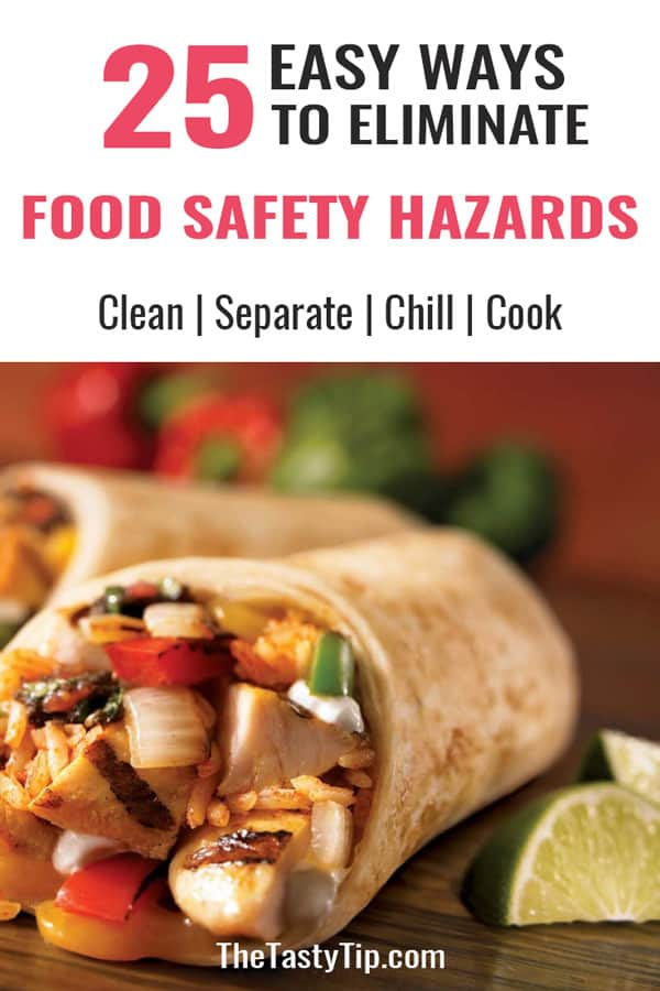 burrito with food safety title