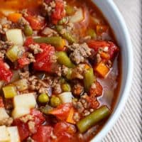 Vegetable Soup with Ground Beef