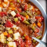 Easy Vegetable Soup with Ground Beef