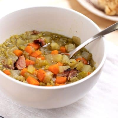 Best Pressure Cooker Split Pea Soup with Ham Bone