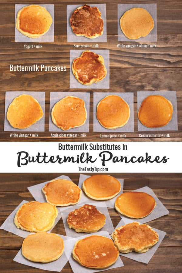 buttermilk pancakes with buttermilk substitutes