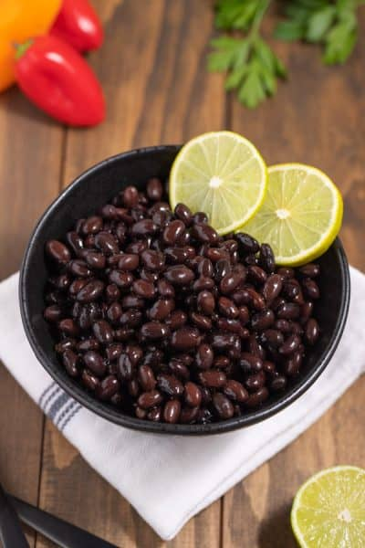 bowl of cooked black beans