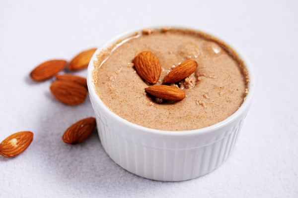 bowl of almond butter