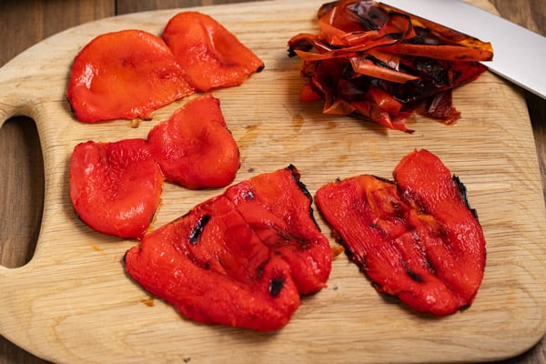 roasted red peppers without skins
