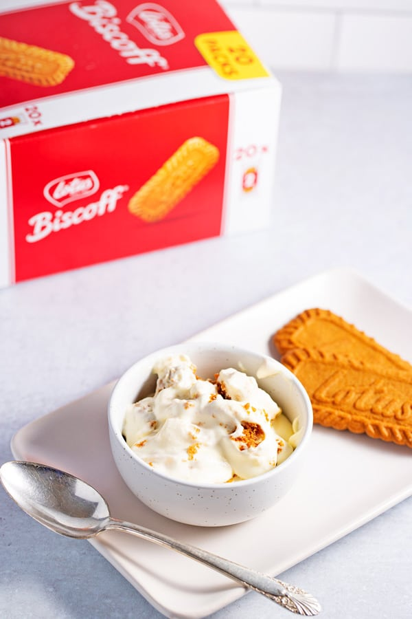 banana pudding using lotus biscoff cookies