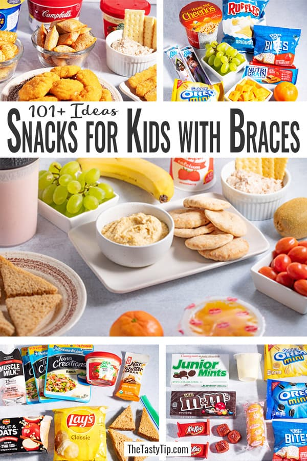 lots of snacks for kids with braces