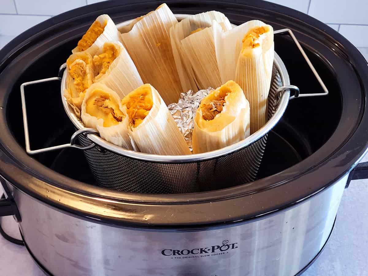 frozen tamales in slow cooker