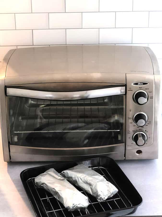 frozen tamales in toaster oven