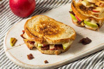 apple bacon grilled cheese sandwich