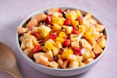 creamy Mexican fruit salad