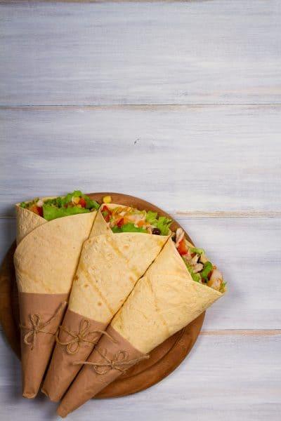 3 burritos on plate