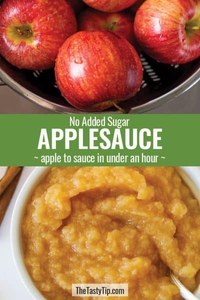 washed apples and applesauce
