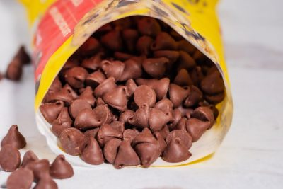 open bag of Nestle Toll House chocolate chips