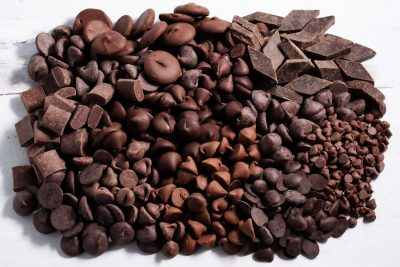 all sizes of chocolate chips