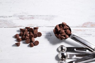 tablespoon with mini chocolate chips