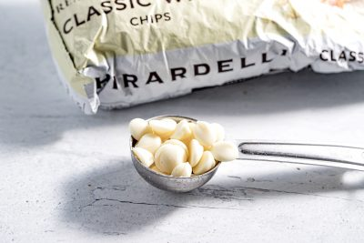 tablespoon with white chocolate chips