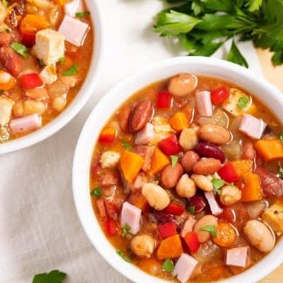 Mouthwatering 15 Bean Soup Recipe (3 ways)