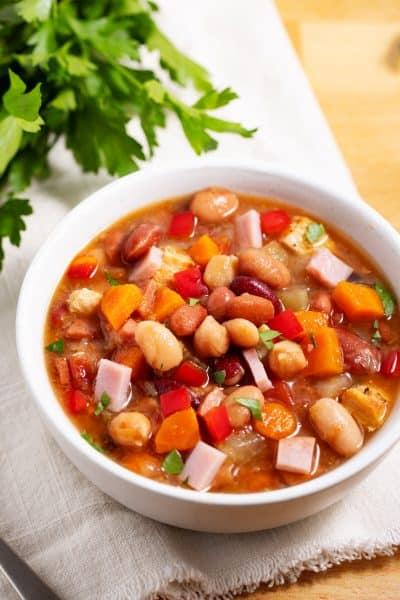 bowl of 15 bean soup mix recipe