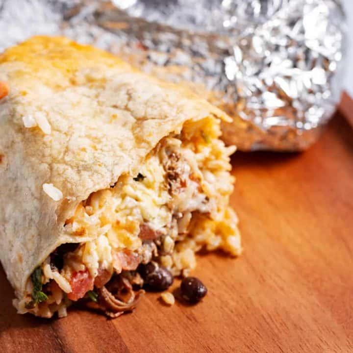 half a chipotle burrito