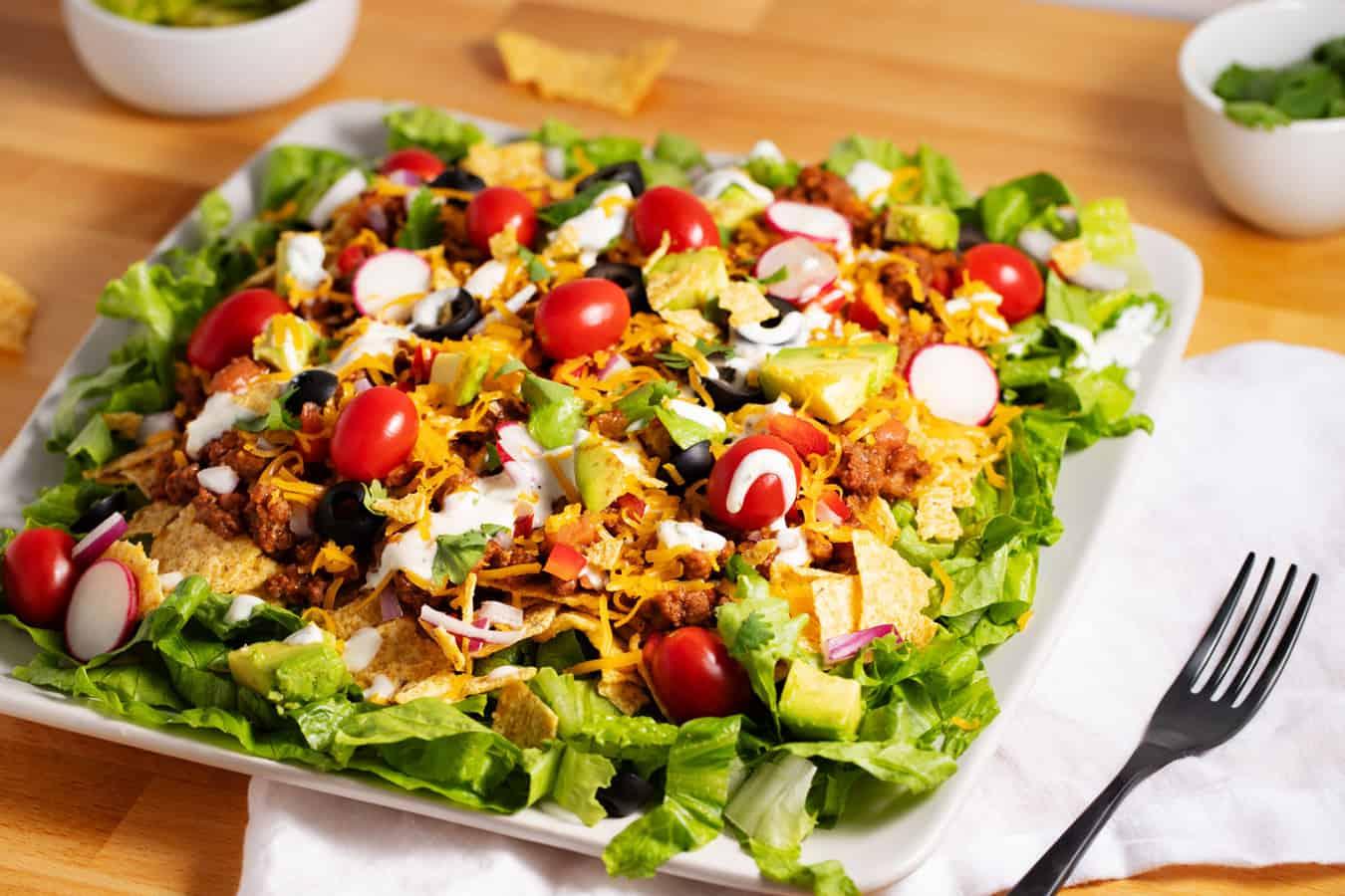 plate of catalina taco salad
