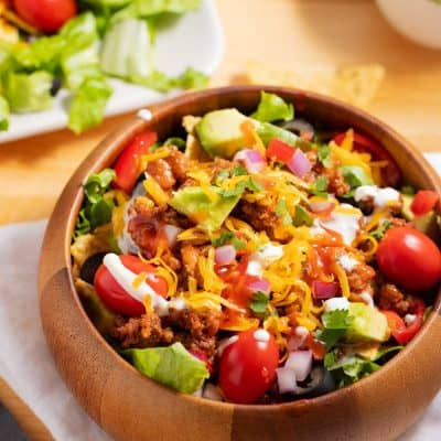 Easy Taco Salad Recipe with Catalina Dressing in 30 minutes