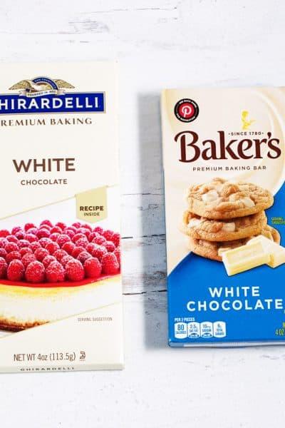 Ghirardelli and Baker's white chocolate baking bars
